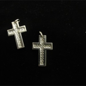 Ciondoli Croce Argento