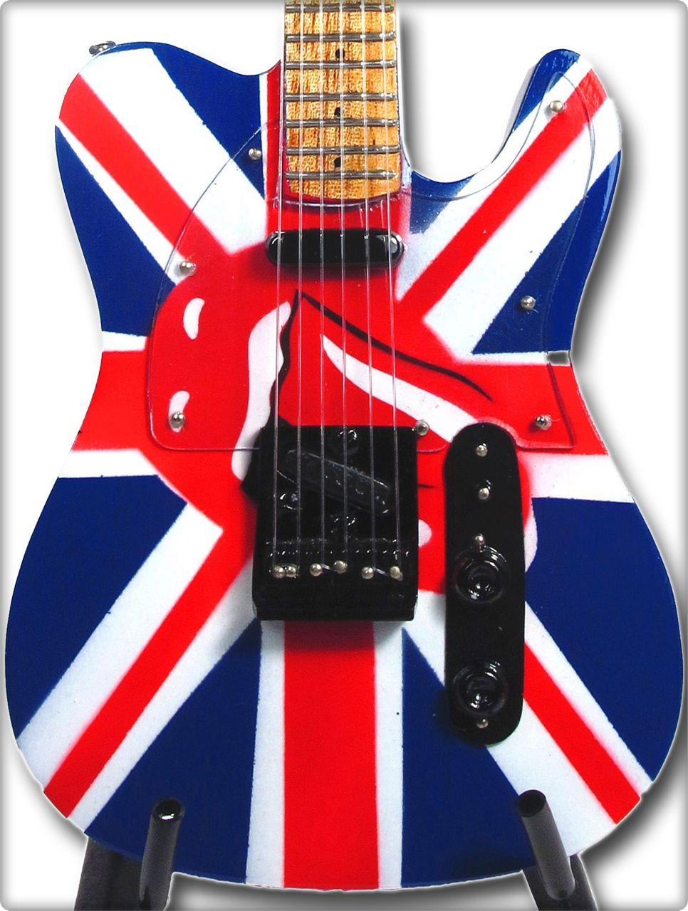 Miniguitars Rolling Stones Strato Blu