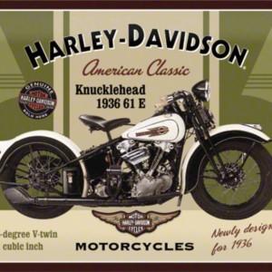 Targa in metallo Harley Davidson