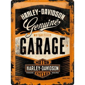 Targa in metallo Harley GARAGE