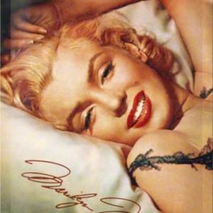 Targa in metallo Marilyn