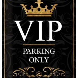 Targa in metallo Vip Parking