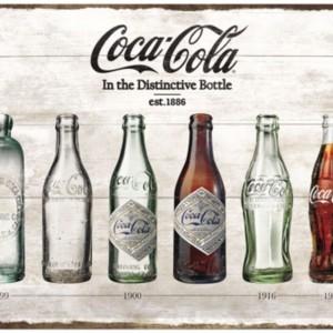 Targa in metallo CocaCola