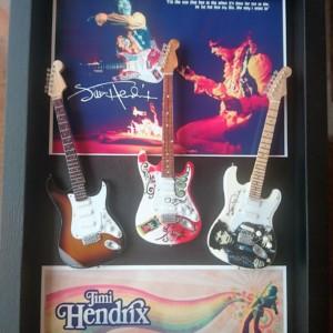 Quadro Jimi Hendrix 3 chitarre