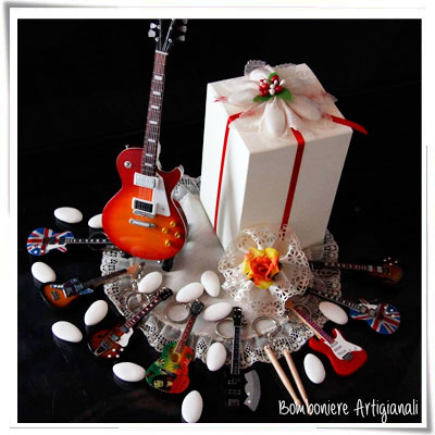 Segnaposto Matrimonio Rock.Miniguitars Minichitarre Rock Riproduzioni Chitarre Anche Per